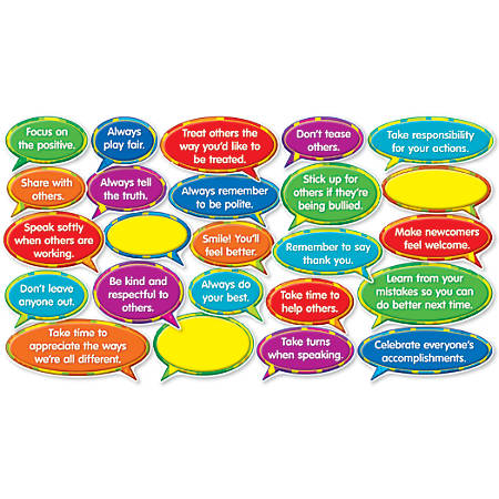 Scholastic Teacher's Friend Good Character Quotes Mini Bulletin Board Set, Pre-K - Grade 5