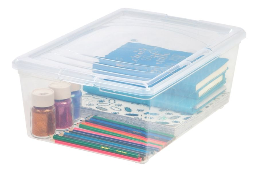 Office Depot Brand Clear Plastic Storage Boxes 135 Qt Pack Of 2 by