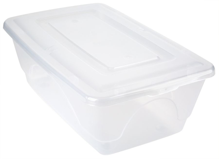 Office Depot Brand Plastic Storage Boxes 65 Quarts Clear Pack Of 4