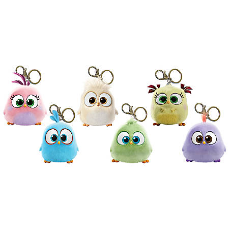 Inkology Bag Charms With Claw Hook, Angry Birds Hatchlings, Pack Of 12 Charms