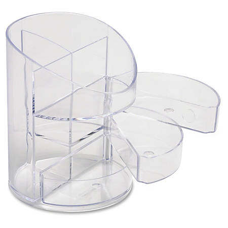 Eldon® Super Cup With Small Storage Drawers, Clear