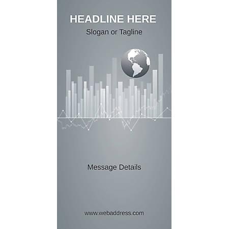 Custom Vertical Display Banner, Business Globe