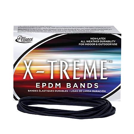 Alliance® Rubber X-Treme™ File Bands, Black, 1 Lb Box