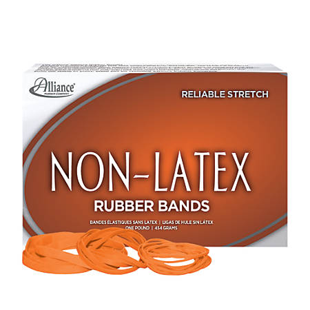 Alliance Non Latex Rubber Bands 54 Orted Sizes Orange 1