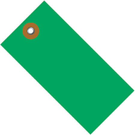 "Office Depot® Brand Tyvek® Shipping Tags, 2 3/4"" x 1 3/8"", Green, Case Of 100"