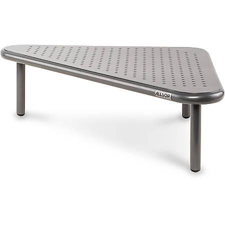 "Allsop Metal Art Corner Stand - 40 lb Load Capacity20"" Width - Floor Stand - Pewter"