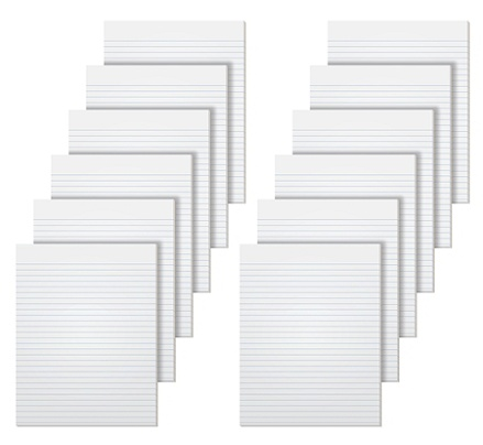 Glue Top TOPS The Legal Pad Writing Pads 7529 8-1//2 x 11 50 Sheets Narrow Rule 12 Pack