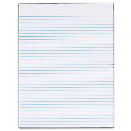 """TOPS™ The Legal Pad™ Glue-Top Writing Pads, 8 1/2"""" x 11"""", Narrow Ruled, 50 Sheets, White, Pack Of 12 Pads"""