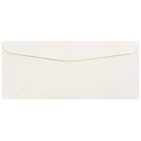 """JAM Paper® Business Booklet Envelopes, #10, 4 1/8"""" x 9 1/2"""", Milkweed Genesis, Pack Of 25"""