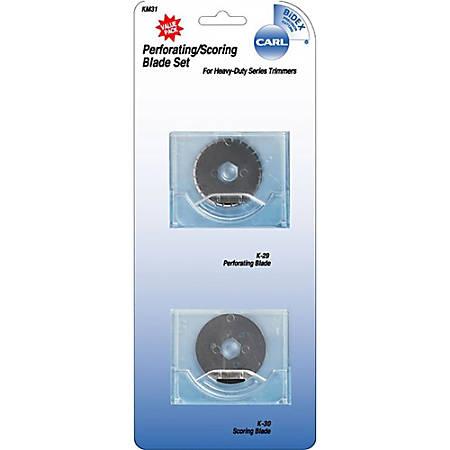 Carl® K-31 Perforating/Scoring Heavy-Duty Rotary Trimmer Blade Set
