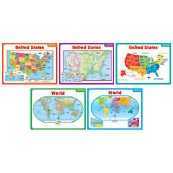Scholastic Teachers Friend Teaching Maps Bulletin