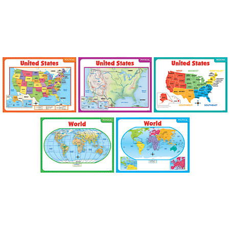 Scholastic Teacher's Friend Teaching Maps Bulletin Board Set, Pre-K - Grade 5