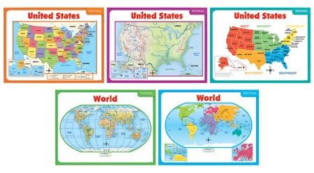Scholastic Teachers Friend Teaching Maps Bulletin Board Set Pre K ...
