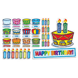 Scholastic Birthday Cakes Mini Bulletin Board