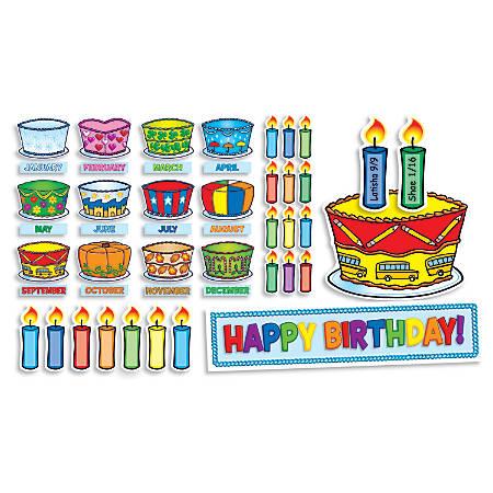 Scholastic Birthday Cakes Mini Bulletin Board Set, Multicolor, Preschool - Grade 5