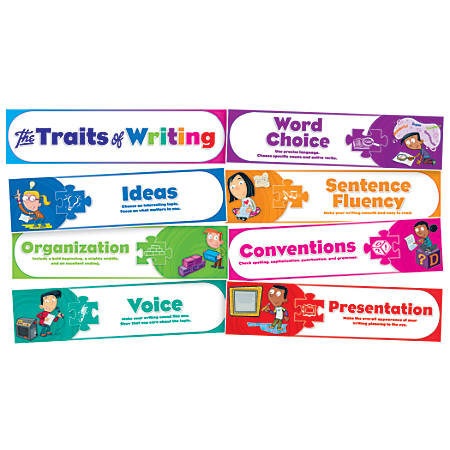 Scholastic Teacher's Friend Traits Of Writing Mini Bulletin Board Set, Kindergarten - Grade 5