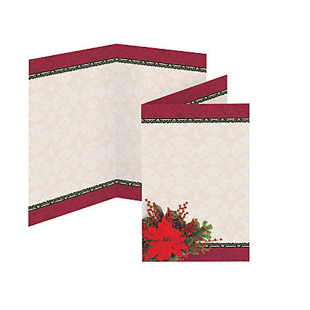 "Great Papers!® Holiday-Themed Programs, Pretty Poinsettia, 5 1/2"" x 8 1/2"", Pack Of 25"