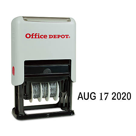 Office Depot® Brand Self-Inking Date Stamp, Black Ink