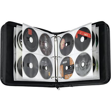 Case Logic® Nylon CD/DVD Binder, 208 Capacity, black