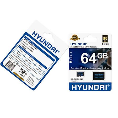 Hyundai 64 GB Class 10/UHS-I (U1) microSDXC - Class 10/UHS-I (U1) - Retail