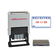 Office Depot Brand Received Date Stamp