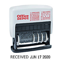 Office Depot Brand Self Inking 12