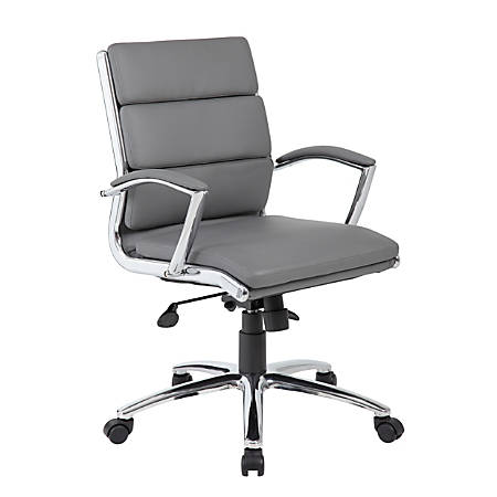 Boss CaressoftPlus™ Mid-Back Chair, Gray/Black