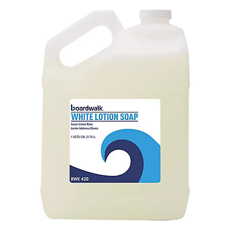 Boardwalk® White Lotion Soap, 155 Oz, Floral Scent