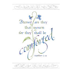 Sunrise Sympathy Cards Religious Blessed Are