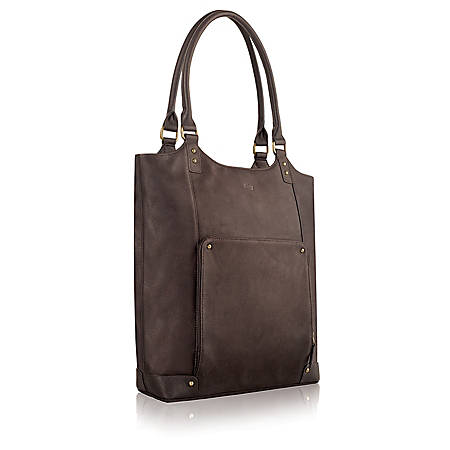 "Solo Vintage Carrying Tote With 16"" Laptop Pocket, Espresso Brown"