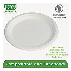 Eco Products Sugarcane Plates 9 Diameter