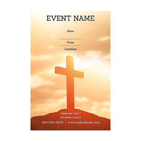 Plastic Sign Template, Holy Sky, Vertical