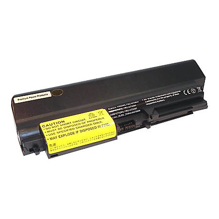 Premium Power Products Compatible 9 cell (7800 mAh) battery for Lenovo Thinkpad R61; T61 - For Notebook - Battery Rechargeable - 10.8 V DC - 7800 mAh - Lithium Ion (Li-Ion) - 1 / White Box