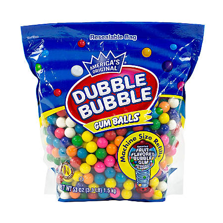 Dubble Bubble Original Gum Balls, 3.3 Lb Bag