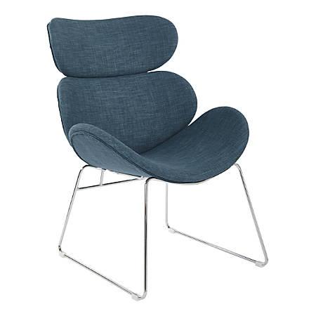 Office Star Avenue Six Jupiter Chair, Indigo/Chrome