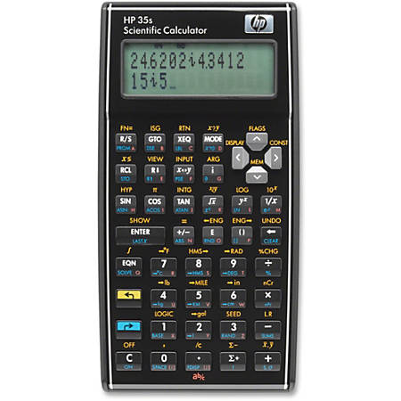 Hp 35s Scientific Calculator 100 Functions Independent Memory Keystroke Programming Off Protection 30 Kb 2 Line S 14 Digits