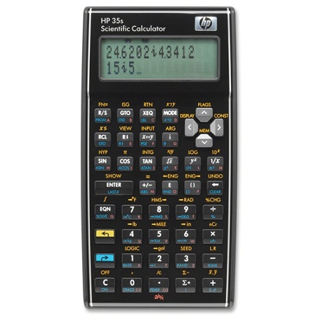 Hp 35s Scientific Calculator 100 Functions Independent Memory Keystroke Programming Off Protection 30 Kb 2 Line S 14 Digits Lcd