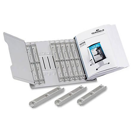 DURABLE 12-section Desktop Catalog Rack - Desktop - Gray - Steel - 1 Each