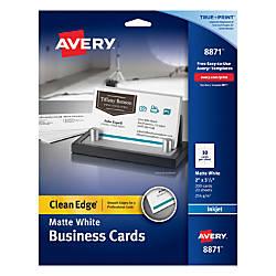 Avery Inkjet Clean Edge Two Side