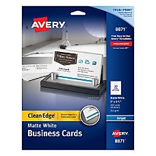 Avery Inkjet Clean Edge Two Side
