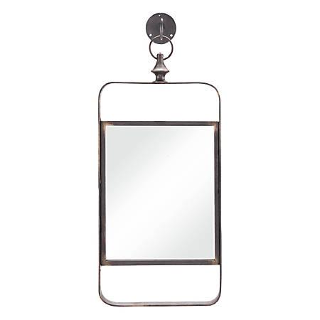 "Zuo Modern Rectangular Mirror, 22""H x 10""W, Black"