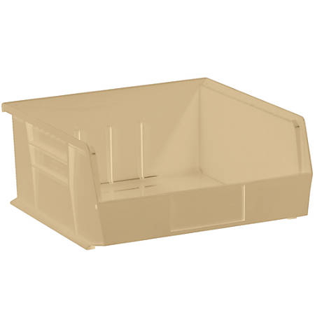"""Office Depot® Brand Plastic Stack And Hang Bin Boxes, 10 7/8"""" x 11"""" x 5"""", Ivory, Pack Of 6"""