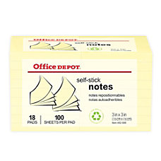 Office Depot Brand Sticky Notes Value