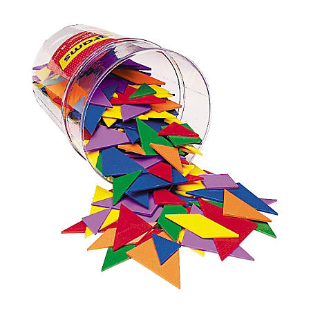 Learning Resources Tangrams, Grades K-8, Assorted Colors, Pack Of 30