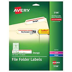 Avery TrueBlock Permanent InkjetLaser File Folder