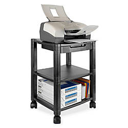 Kantek 3 Shelf Mobile PrinterFax Stand