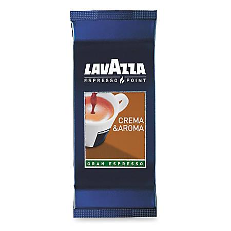 Lavazza Espresso Point Crema e Aroma Espresso Coffee Cartridge - Regular - Light/Mild - 0.3 oz - 100 / Box