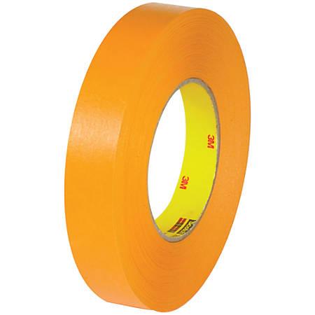 "3M™ 2525 Flat-Back Tape, 3"" Core, 1"" x 60 Yd., Orange, Pack Of 6"