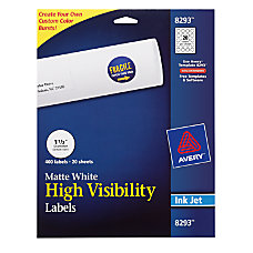 Avery Permanent High Visibility Labels Round