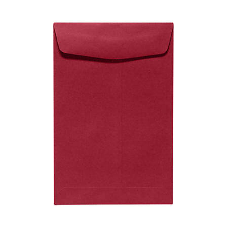 "LUX Open-End Envelopes With Peel & Press Closure, #6 1/2, 6"" x 9"", Garnet Red, Pack Of 50"